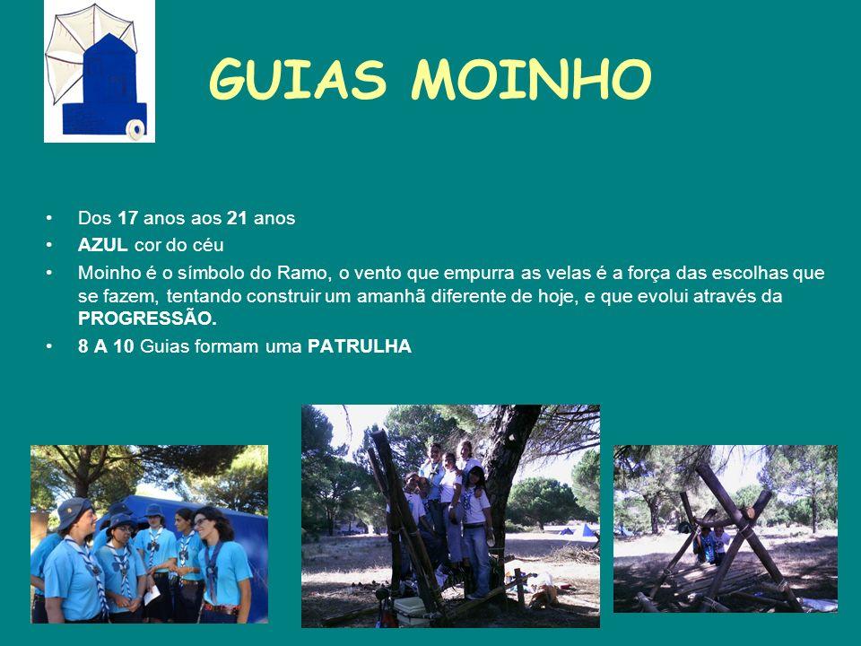 GUIAS MOINHO Dos 17 anos aos 21 anos AZUL cor do céu