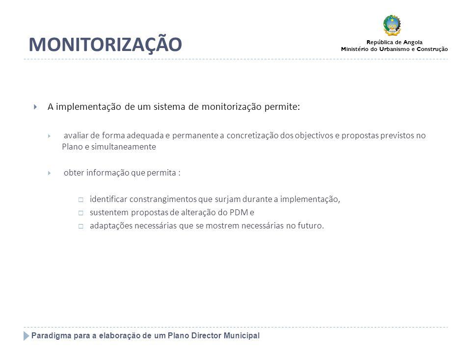 MONITORIZAÇÃO A implementação de um sistema de monitorização permite: