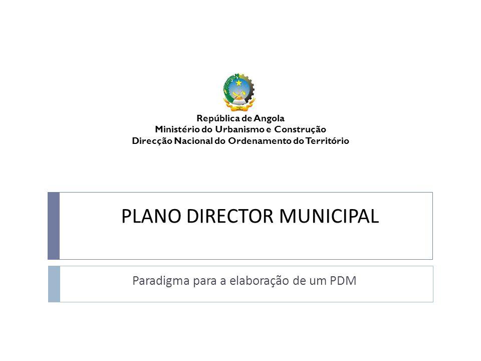 PLANO DIRECTOR MUNICIPAL