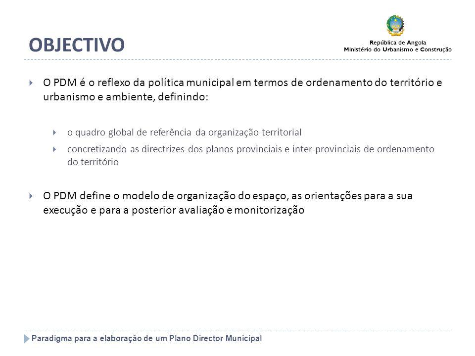 OBJECTIVO O PDM é o reflexo da política municipal em termos de ordenamento do território e urbanismo e ambiente, definindo:
