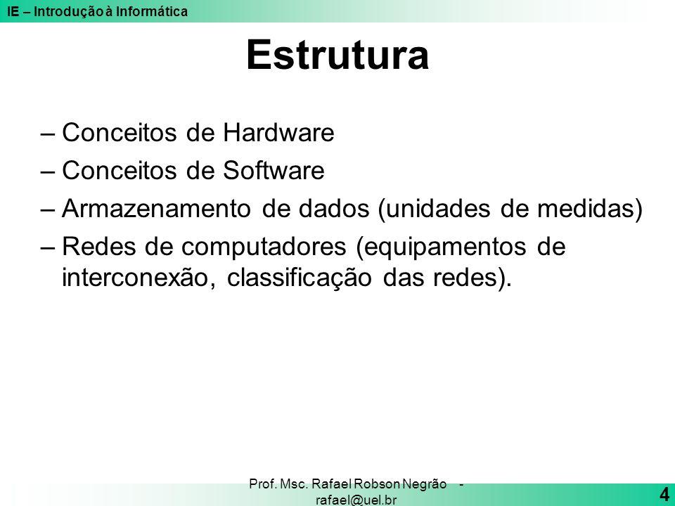 Prof. Msc. Rafael Robson Negrão - rafael@uel.br