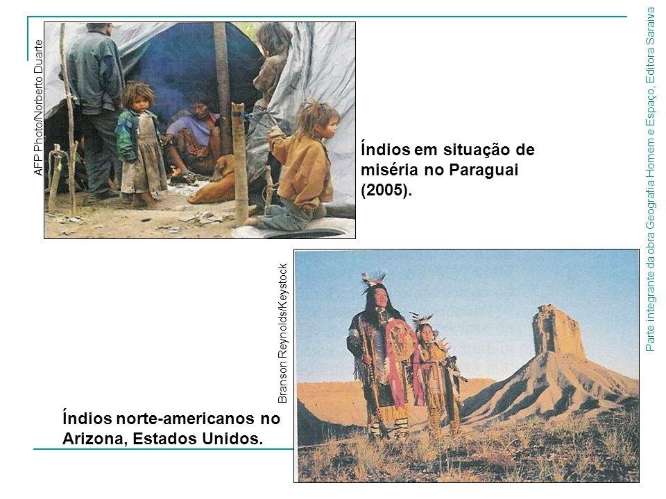 Índios em situação de miséria no Paraguai (2005).
