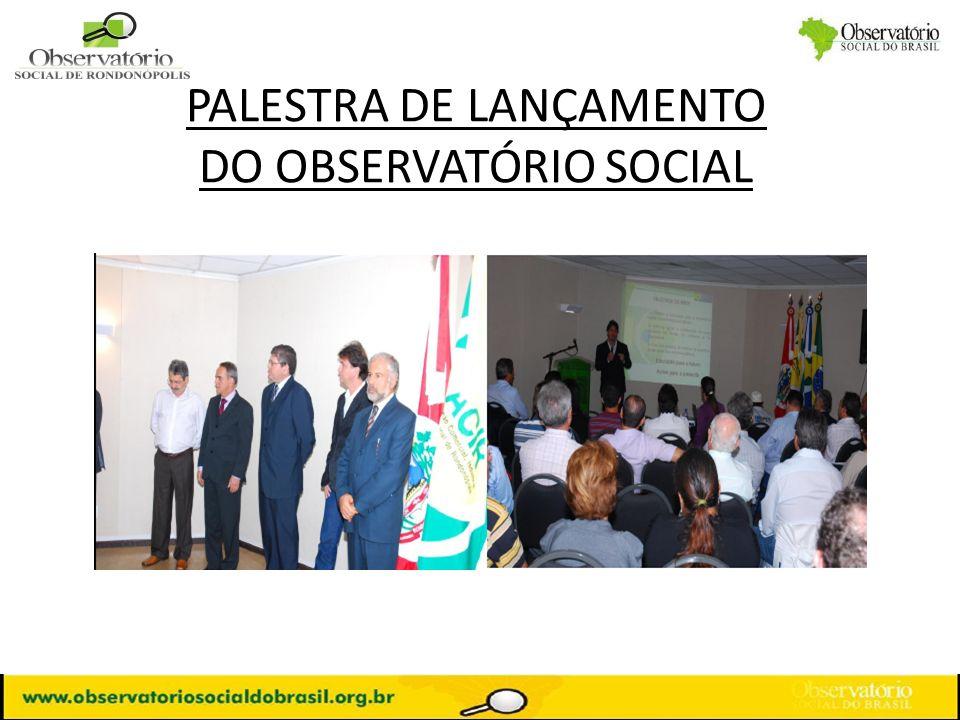 PALESTRA DE LANÇAMENTO DO OBSERVATÓRIO SOCIAL
