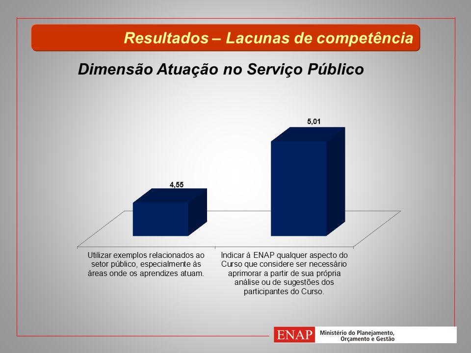 Dimensão Atuação no Serviço Público