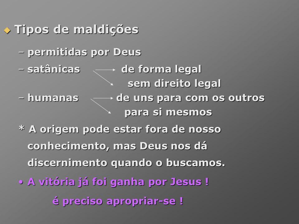 Tipos de maldições permitidas por Deus satânicas de forma legal