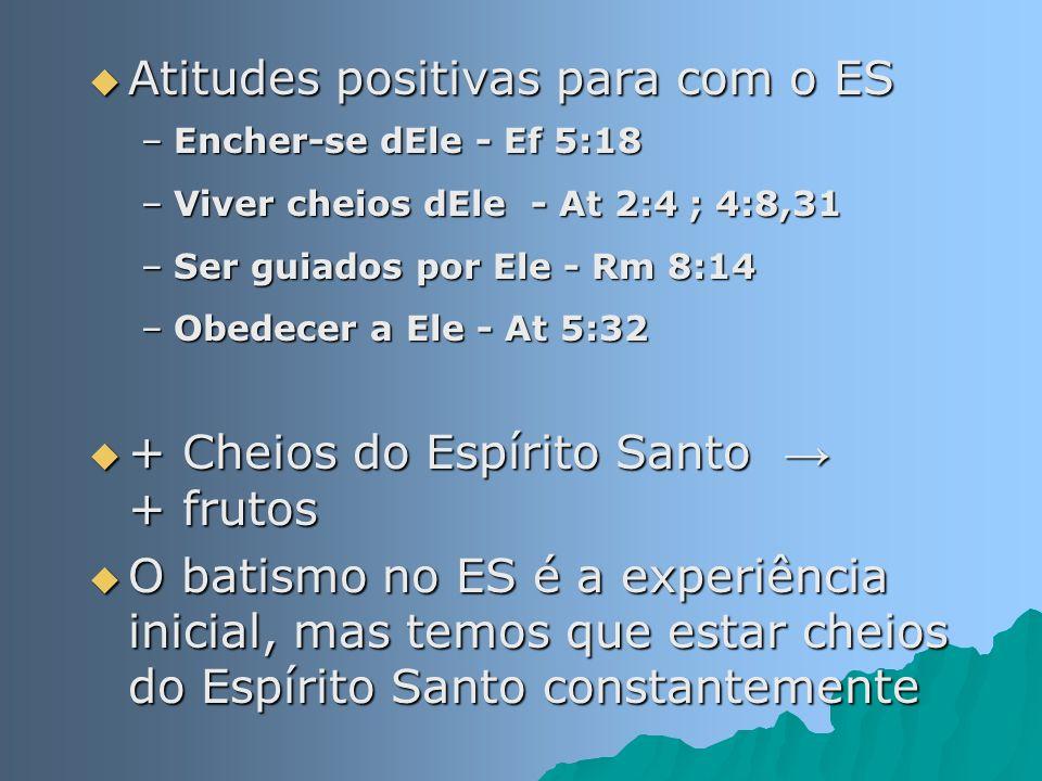 Atitudes positivas para com o ES