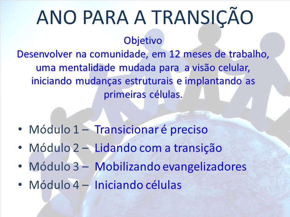 ANO PARA A TRANSIÇÃO Módulo 1 – Transicionar é preciso