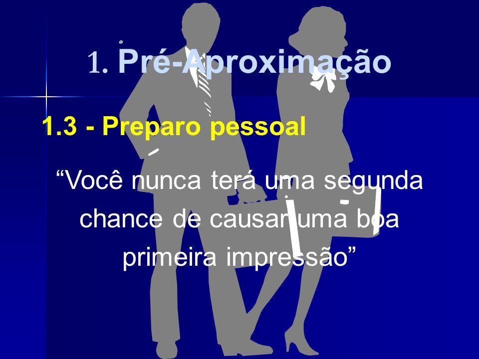 1. Pré-Aproximação 1.3 - Preparo pessoal