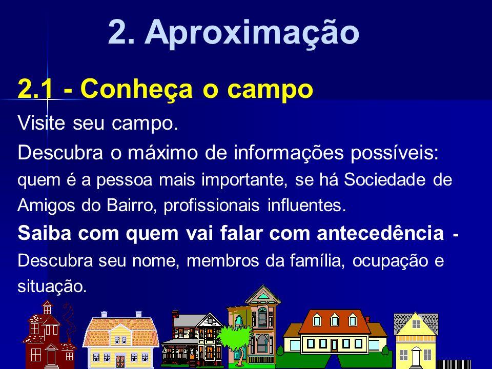 2. Aproximação 2.1 - Conheça o campo Visite seu campo.
