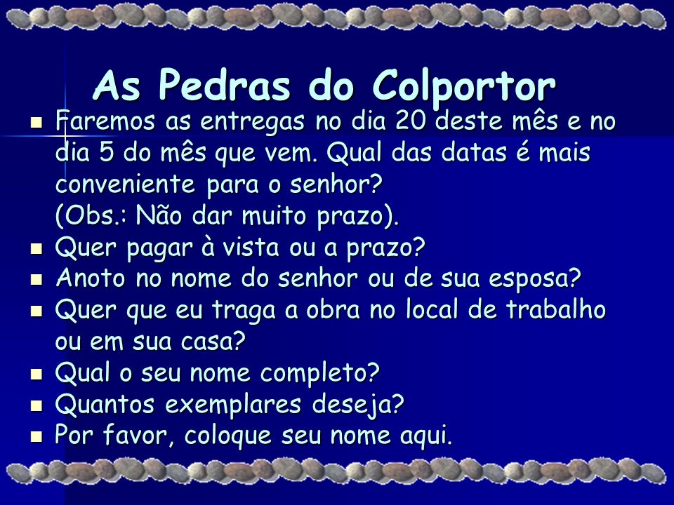 As Pedras do Colportor