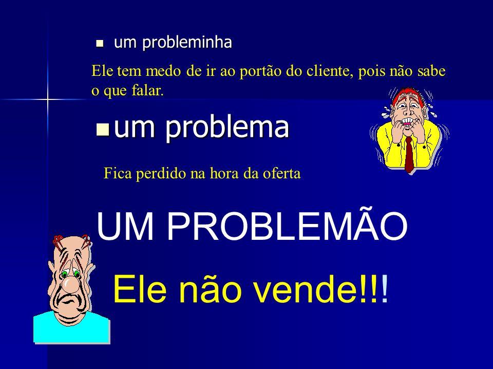 UM PROBLEMÃO Ele não vende!!! um problema um probleminha