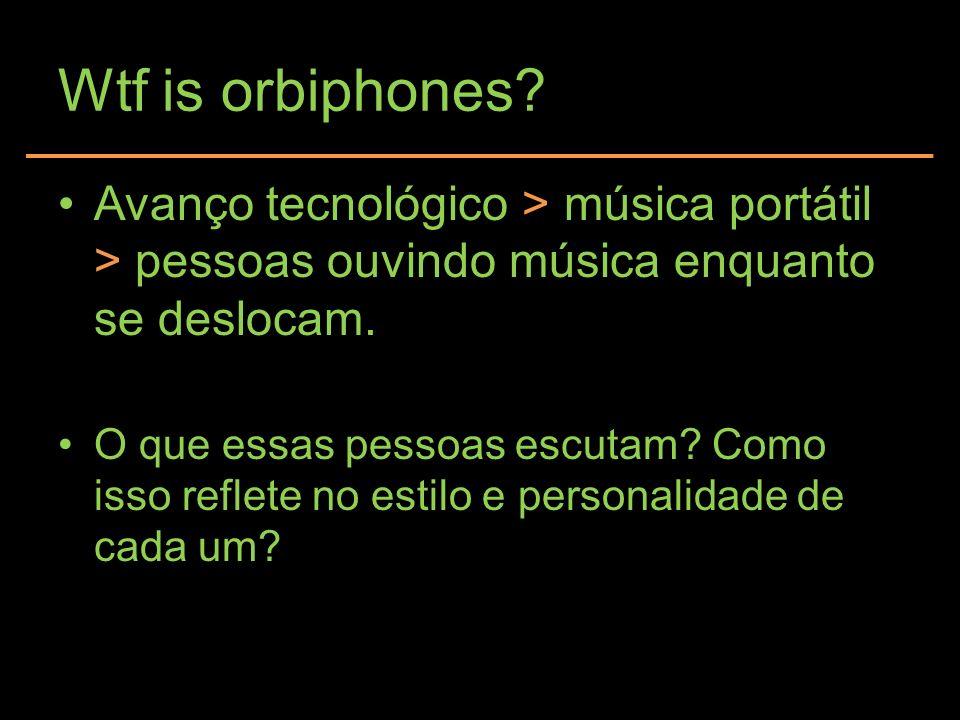 Wtf is orbiphones Avanço tecnológico > música portátil > pessoas ouvindo música enquanto se deslocam.