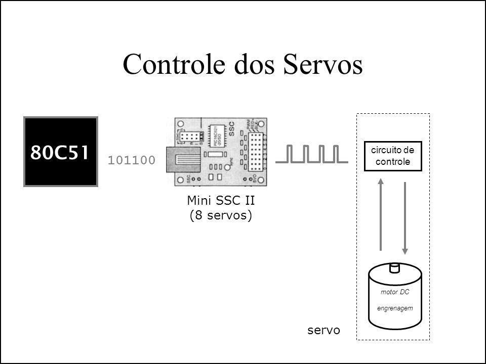 Controle dos Servos 80C51 101100 Mini SSC II (8 servos) servo