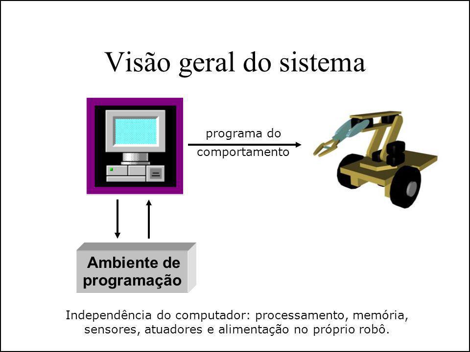 Visão geral do sistema Ambiente de programação programa do