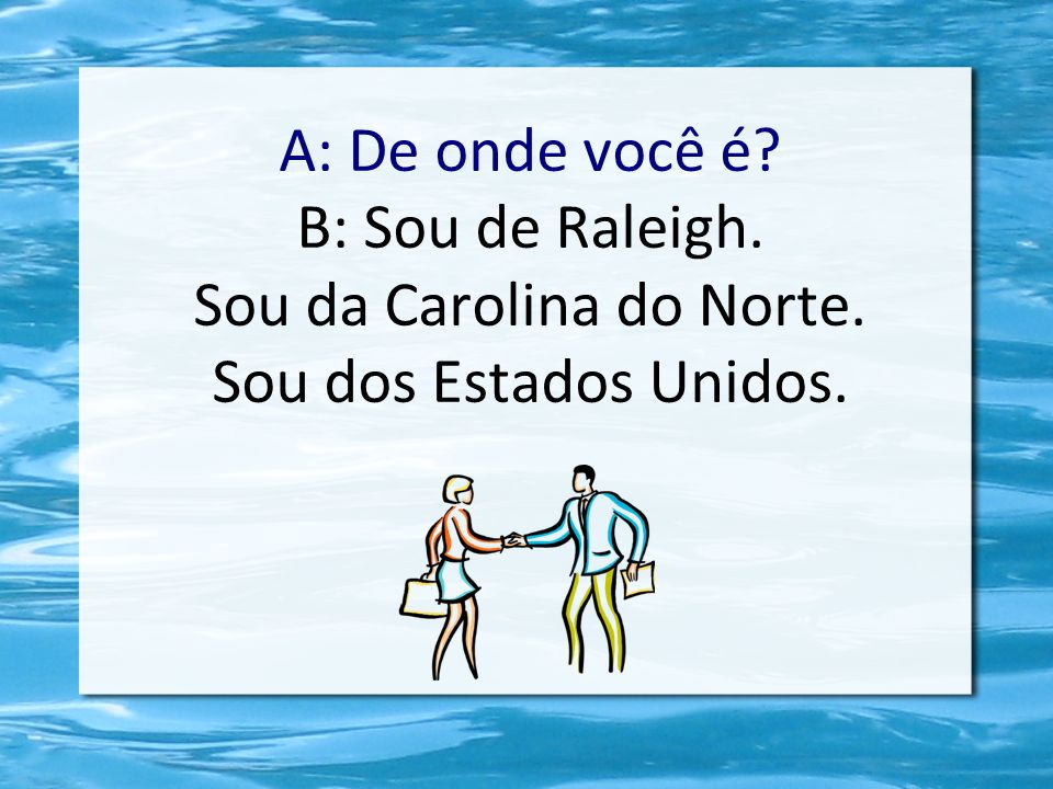 Sou da Carolina do Norte.