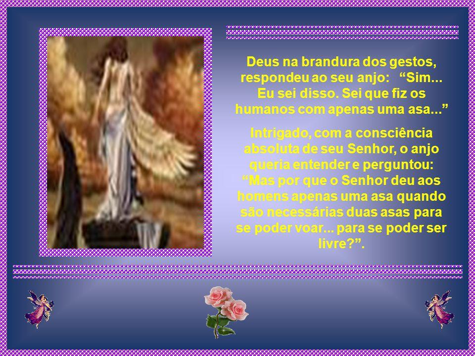 Deus na brandura dos gestos, respondeu ao seu anjo: Sim. Eu sei disso