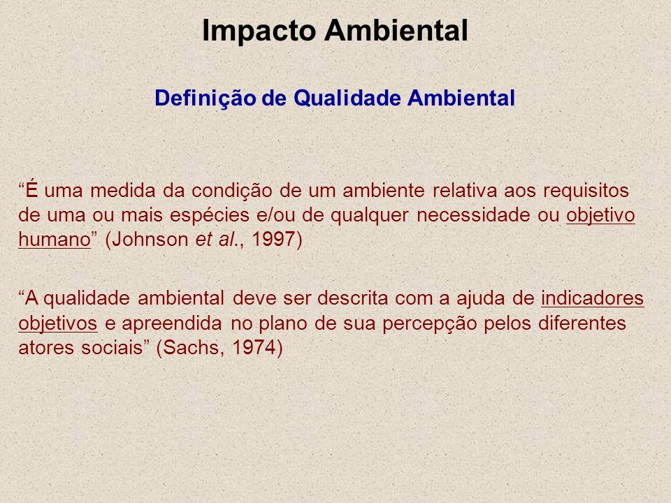 Impacto Ambiental Definição de Qualidade Ambiental