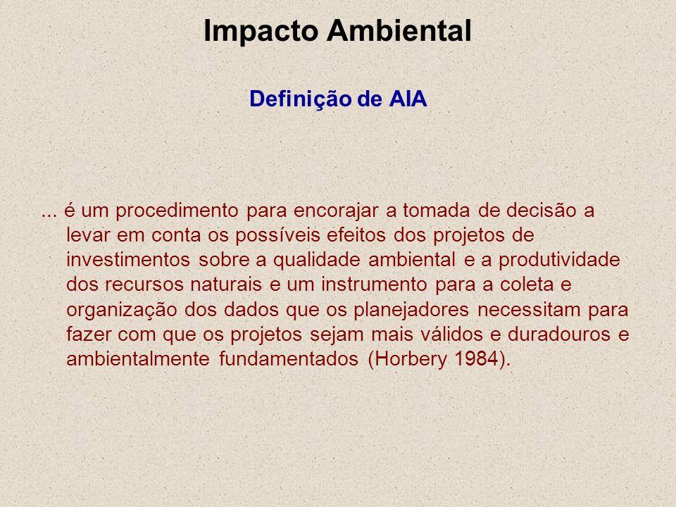 Impacto Ambiental Definição de AIA
