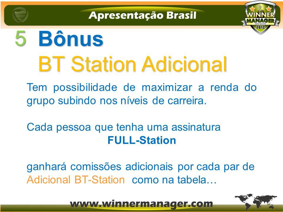 5 Bônus BT Station Adicional
