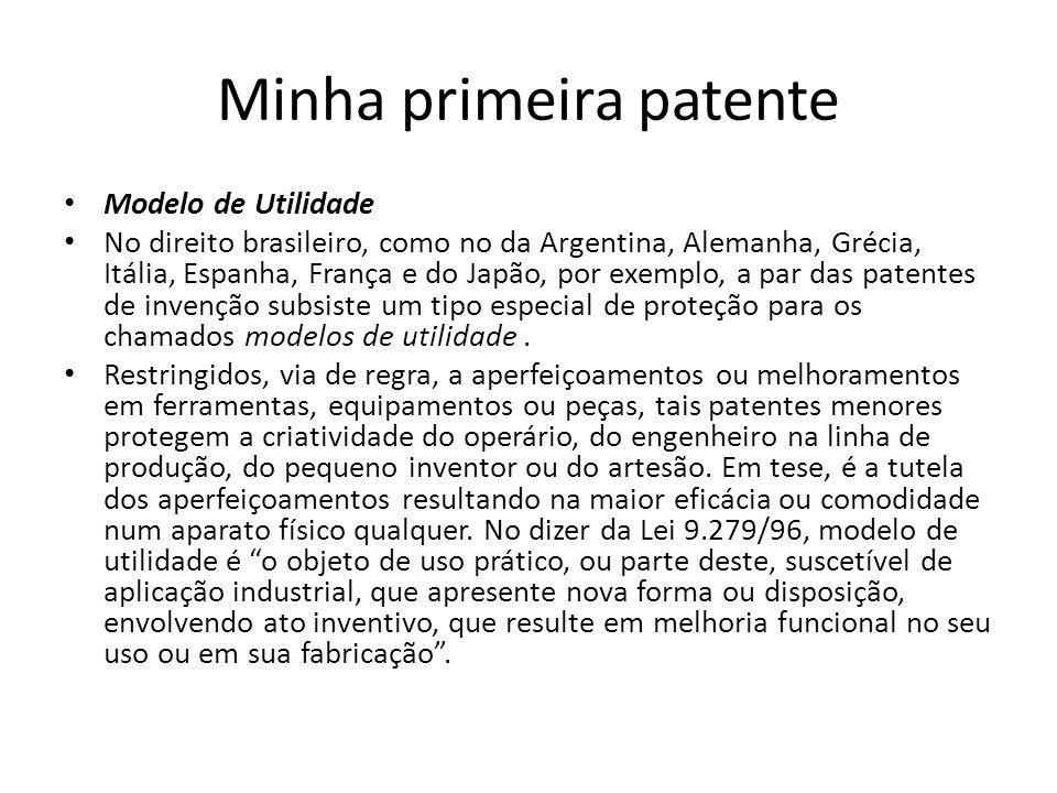 Minha primeira patente