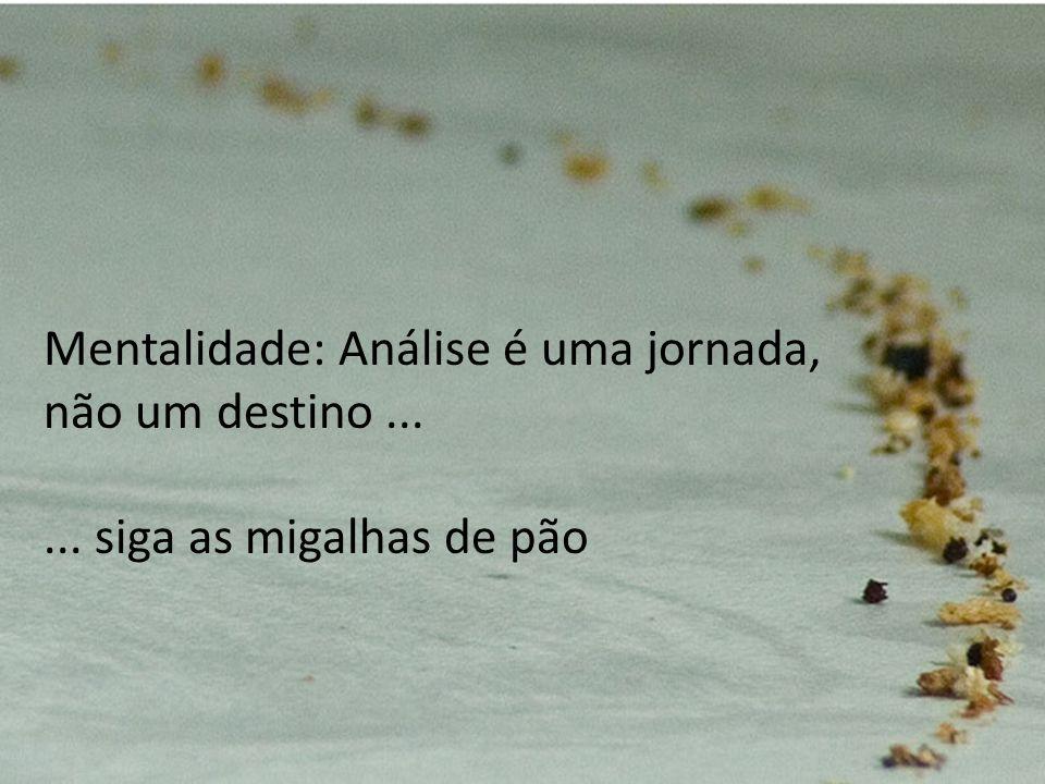 Mentalidade: Análise é uma jornada, não um destino ...
