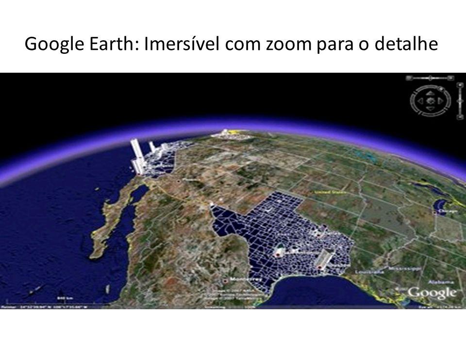 Google Earth: Imersível com zoom para o detalhe