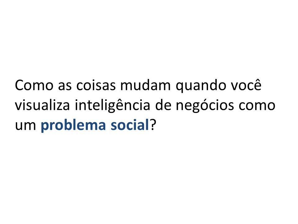 Como as coisas mudam quando você visualiza inteligência de negócios como um problema social