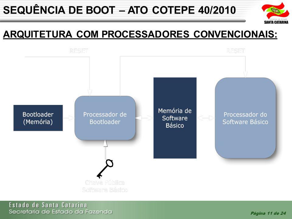 SEQUÊNCIA DE BOOT – ATO COTEPE 40/2010