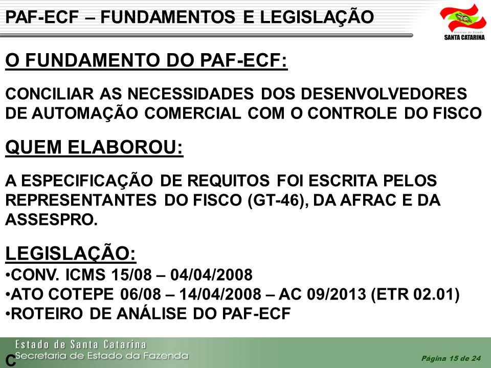 PAF-ECF – FUNDAMENTOS E LEGISLAÇÃO