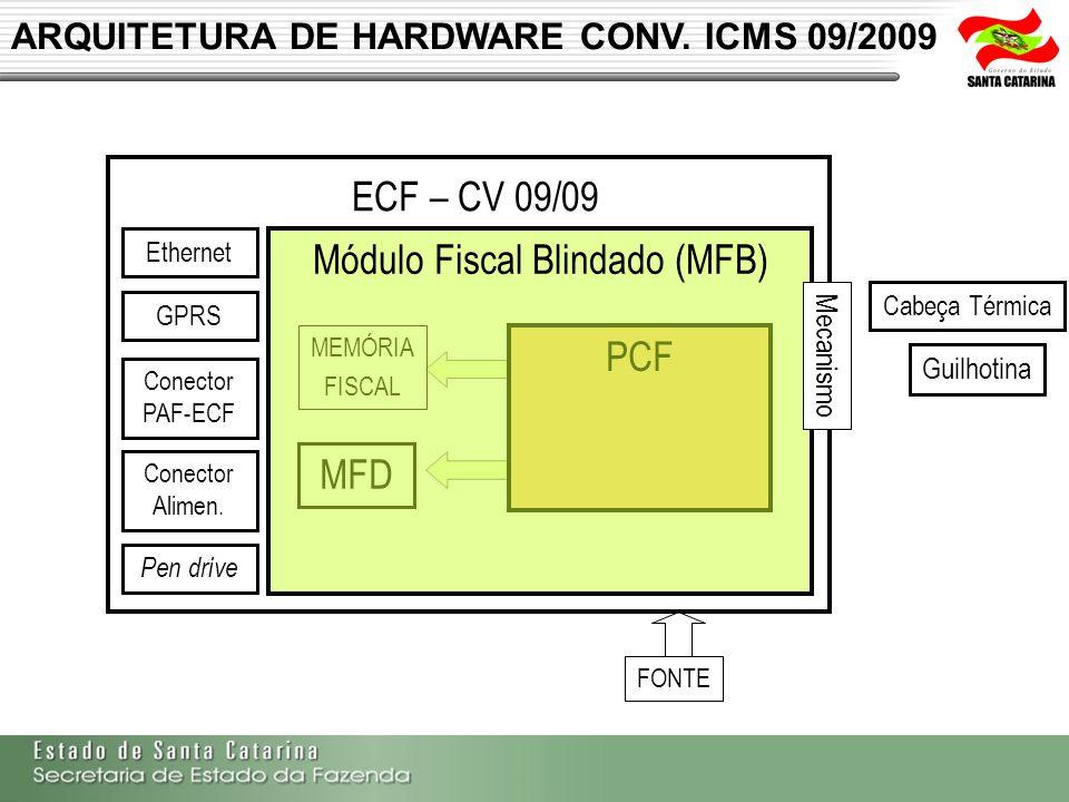 ARQUITETURA DE HARDWARE CONV. ICMS 09/2009