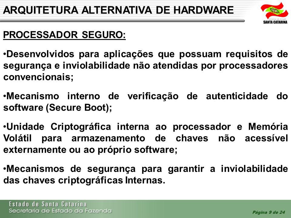 ARQUITETURA ALTERNATIVA DE HARDWARE