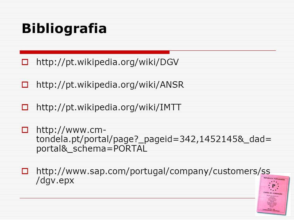 Bibliografia http://pt.wikipedia.org/wiki/DGV