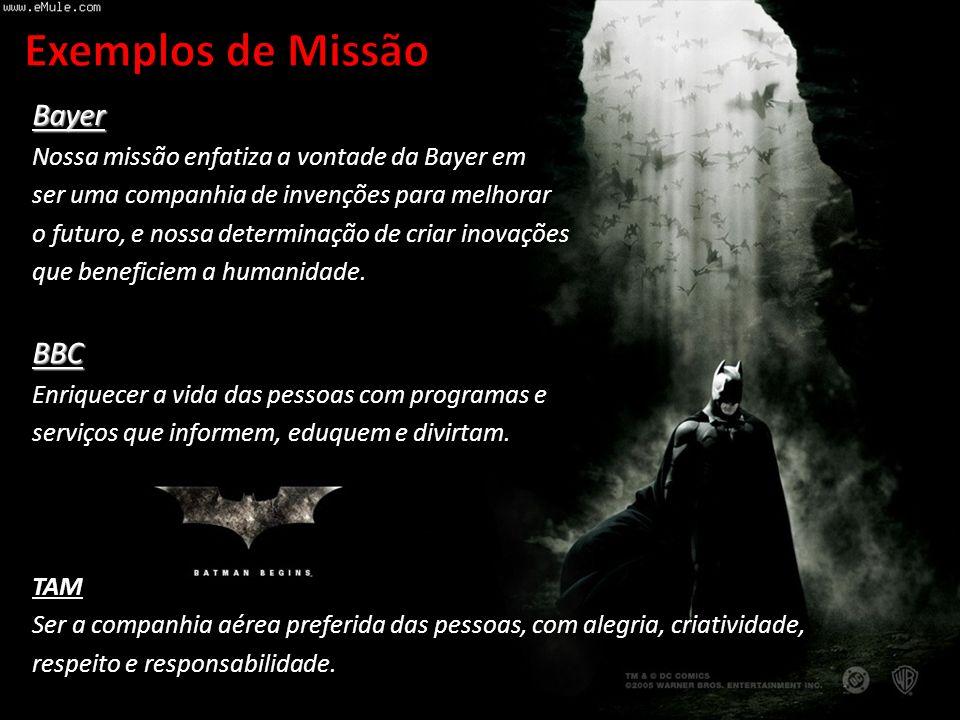 Exemplos de Missão Bayer BBC