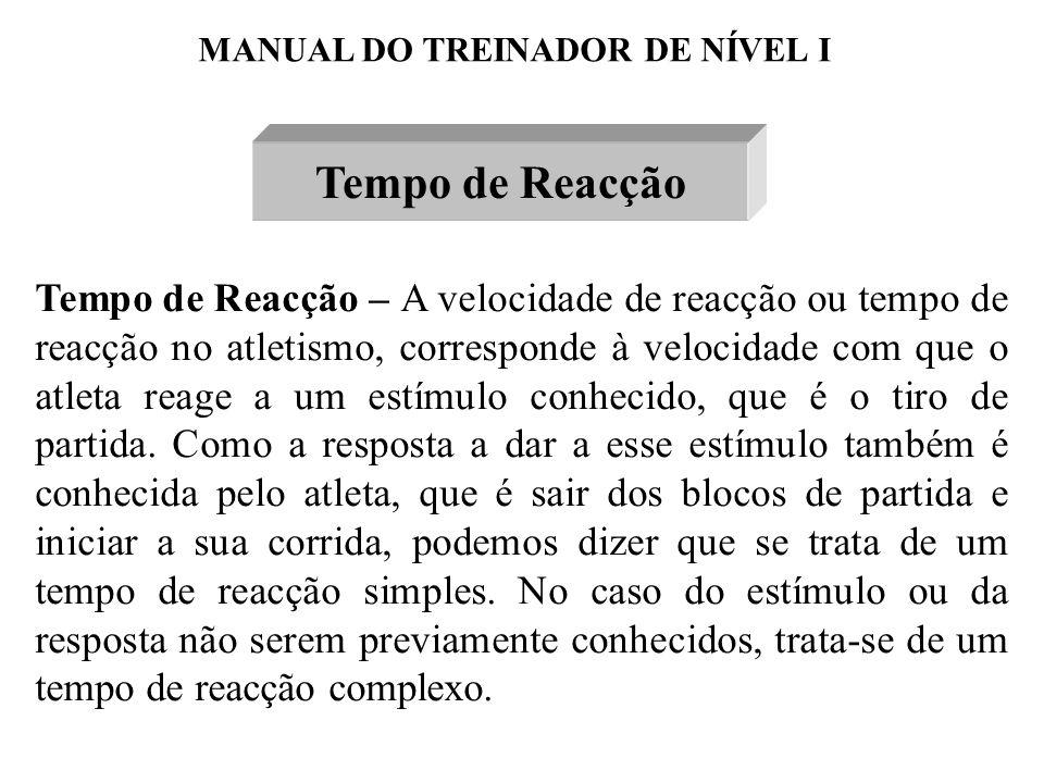 MANUAL DO TREINADOR DE NÍVEL I