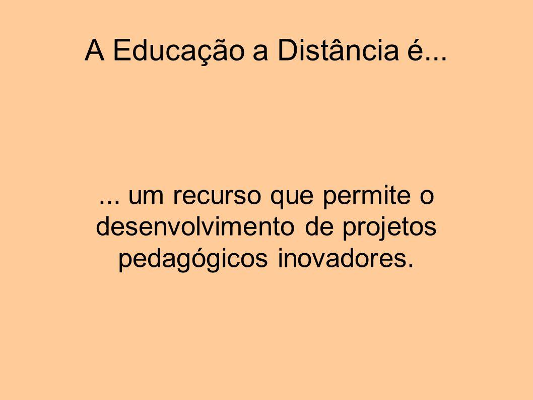 A Educação a Distância é...