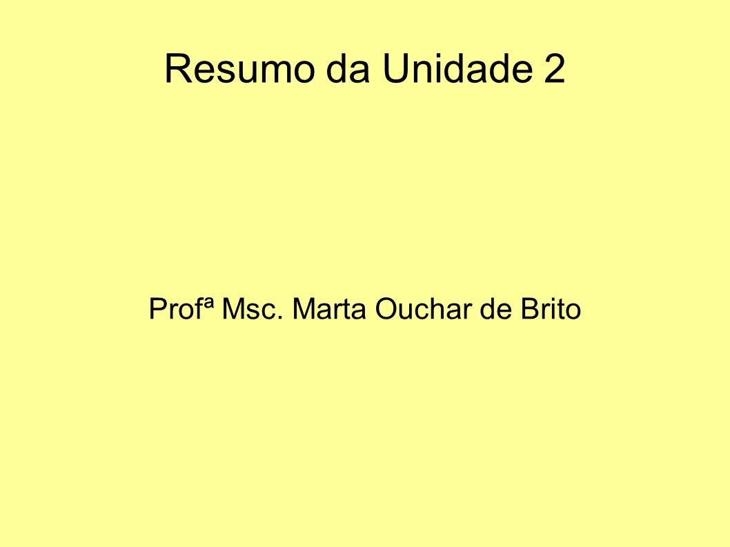 Profª Msc. Marta Ouchar de Brito