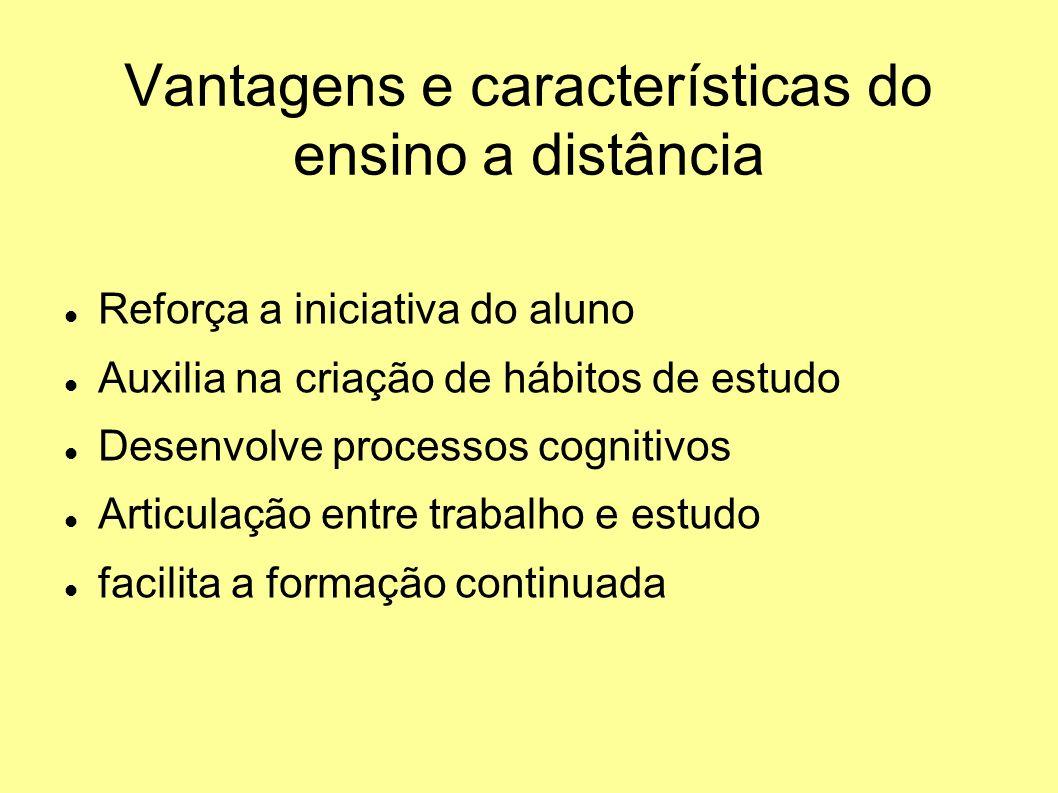 Vantagens e características do ensino a distância