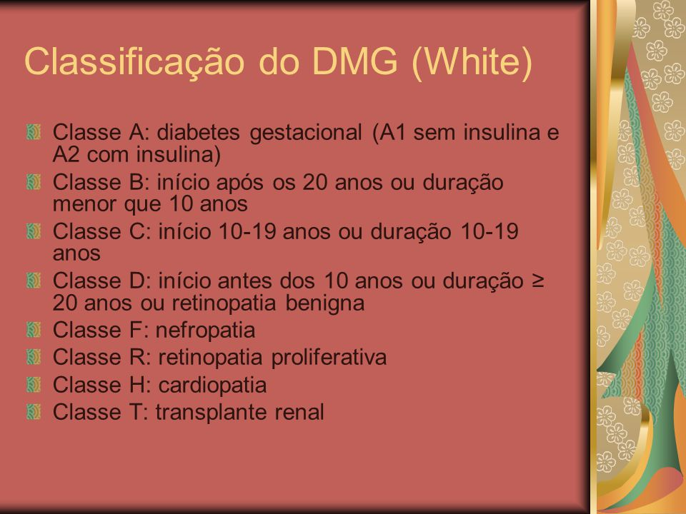 Classificação do DMG (White)