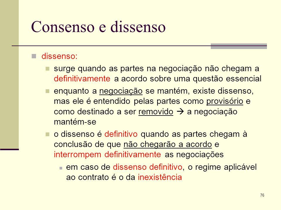 Consenso e dissenso dissenso: