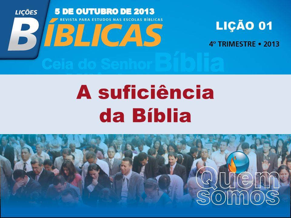 A suficiência da Bíblia