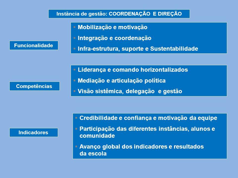 Instância de gestão: COORDENAÇÃO E DIREÇÃO