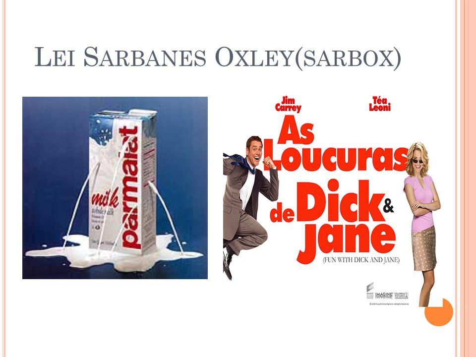 Lei Sarbanes Oxley(sarbox)