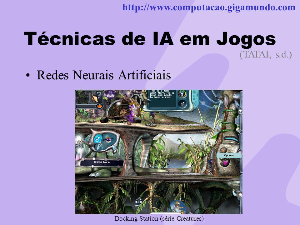Técnicas de IA em Jogos Redes Neurais Artificiais (TATAI, s.d.)