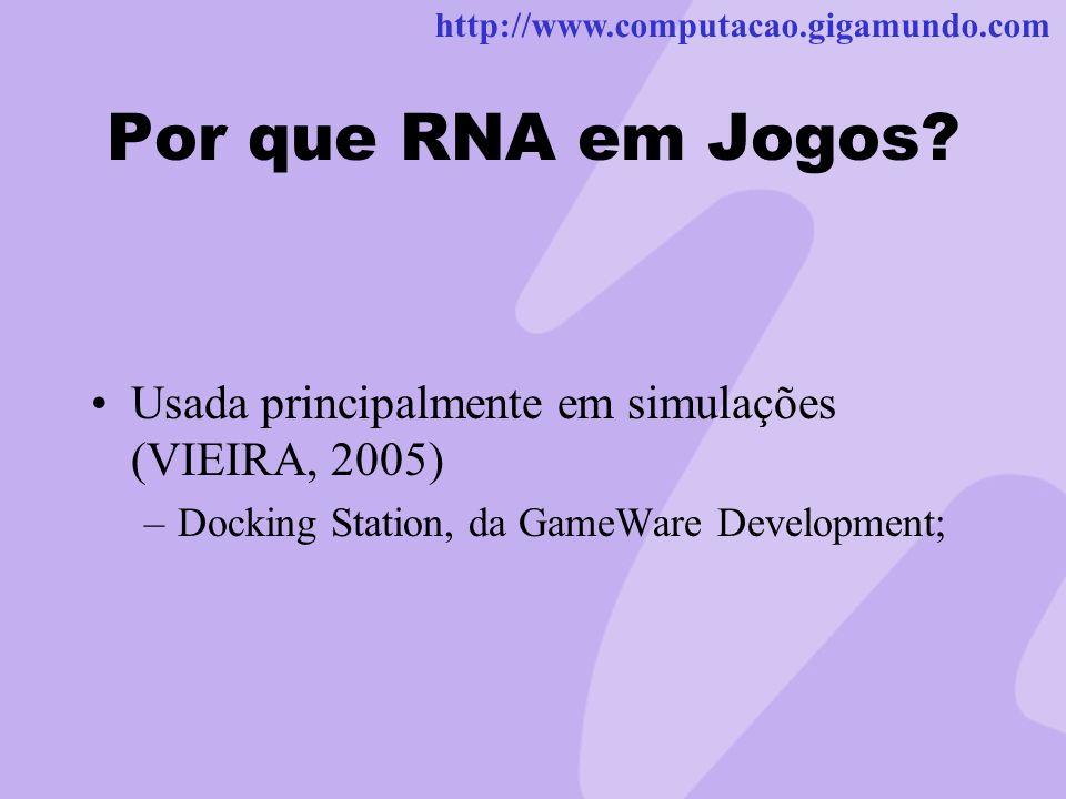 Por que RNA em Jogos.