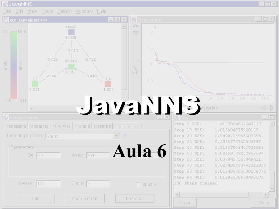 JavaNNS JavaNNS Aula 6