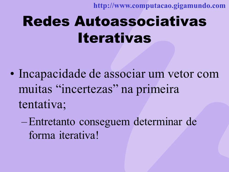 Redes Autoassociativas Iterativas