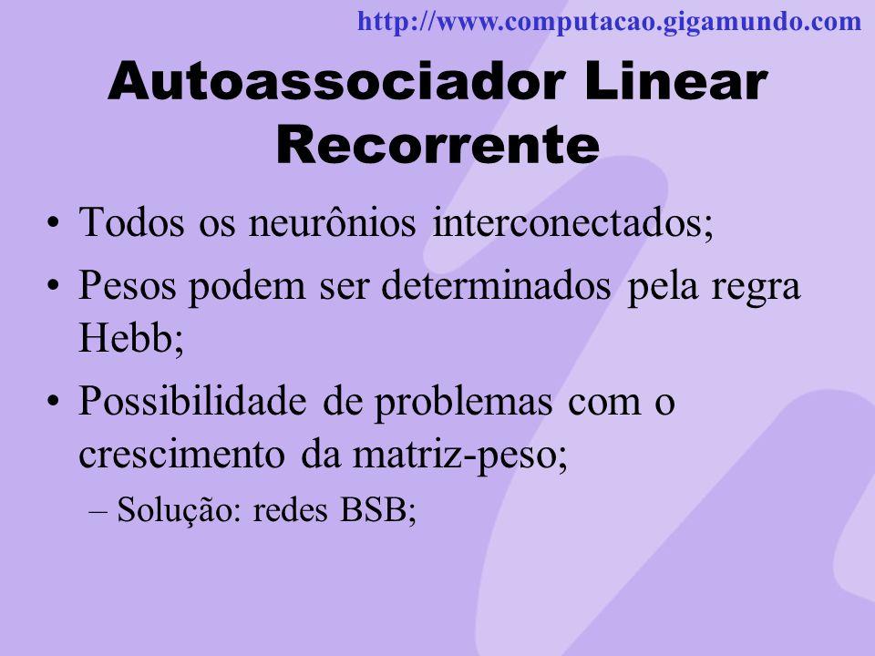 Autoassociador Linear Recorrente