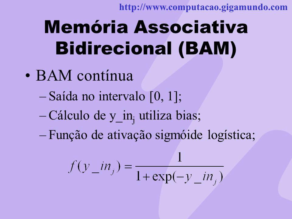Memória Associativa Bidirecional (BAM)