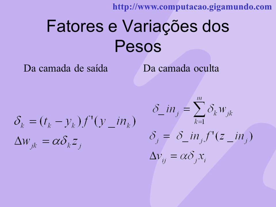 Fatores e Variações dos Pesos