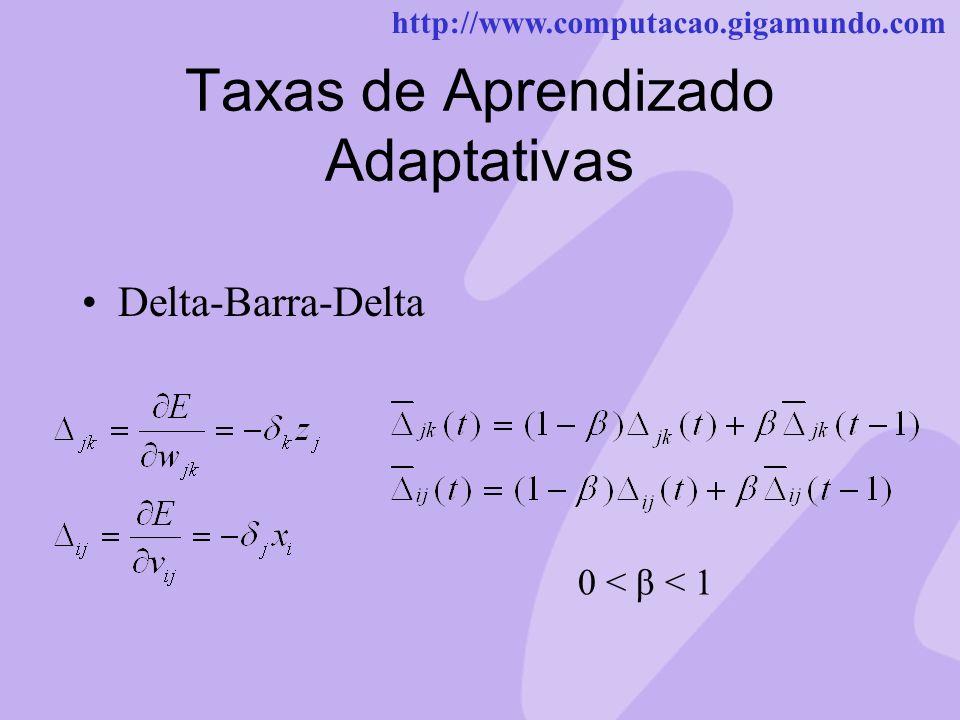 Taxas de Aprendizado Adaptativas